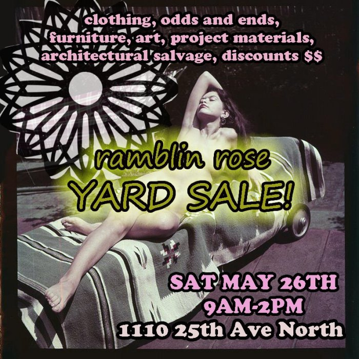 WE'RE HAVING A BIG YARD SALE TOMORROW!!!